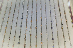 Freshwater Pearl Necklaces. In Beijing China Royalty Free Stock Image