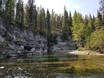River canyon. Freshwater river canyon in the rocky mountains. Trout fishing, fly fishing Royalty Free Stock Photo