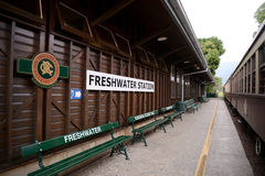 Freshwater train station in Queensland Australia. Is a station where the train from Kuranda to Cairns stops on it`s journey down from the high tropical forests royalty free stock photography