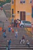 Fresk Canuts w Lyon w okręgu Croix-Rousse Obraz Stock