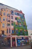 Fresk Canuts w Lyon w okręgu Croix-Rousse Fotografia Stock