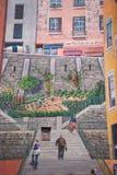 Fresk Canuts w Lyon w okręgu Croix-Rousse Zdjęcie Stock