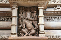 Fresk Ganesha, syn Shiva i Parvati Fotografia Stock