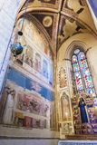 Fresk Giotto Bardi Cappella w bazylice Santa Croce, Fl Obrazy Stock