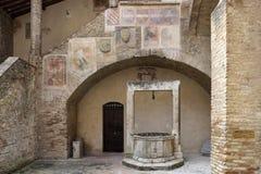 Fresk i well Tuscany Obrazy Stock
