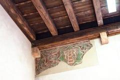 Fresk na ścianie i sufit w castelvecchio Zdjęcie Stock