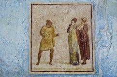 Fresk, Pompeii Fotografia Royalty Free