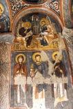 Fresk, rockowy kościół w Cappadocia, Turcja, Środkowy Wschód zdjęcia stock