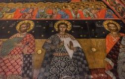 Fresk w Bachkovo monasterze obraz royalty free
