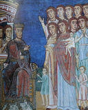 Fresk w bazylice Di Santa Cecilia w Trastevere, Rzym, Włochy zdjęcia stock