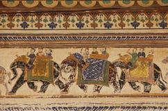 Fresk w mieście Mandawa zdjęcia royalty free