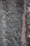 Fresko Angkor Wat/Angkor Thom Die alten Ruinen von einem historischen Stockbilder