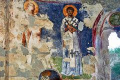 Fresko in the Church of St. Nicholas in Demre Turkey Royalty Free Stock Image