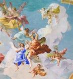 Fresko, das hauptsächliches Virtues in Stift Melk, Österreich darstellt Lizenzfreie Stockfotografie