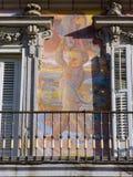 Fresko-decor Bakkerijhuis bij Plein Burgemeester Square Stock Fotografie