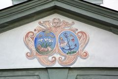 Fresko in der berühmten Benediktbeuern-Abtei, Deutschland Lizenzfreie Stockbilder