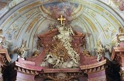 Fresko in der Kathedrale, Szekesfehervar, Ungarn Lizenzfreies Stockfoto