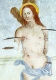 Fresko in der Kirche von Al Furlo Sans Vincenzo Lizenzfreies Stockfoto