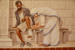 Fresko der Mutter Theresa Lizenzfreies Stockfoto
