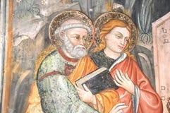 Fresko des Heiligen Benedict Stockfotografie