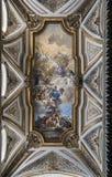 Fresko door Francesco Solimena in de sacristie van San Domenico Mag Royalty-vrije Stock Afbeeldingen