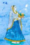 Fresko einer jungen Frau Stockfotos
