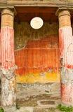Fresko en kolommen in Ruïnes royalty-vrije stock fotografie