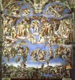 Fresko in Kapel Sistine Royalty-vrije Stock Afbeeldingen