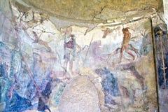 Fresko in Pompeji Lizenzfreie Stockfotos