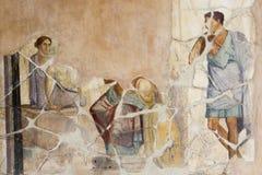 Fresko in Pompeji Stockfotos
