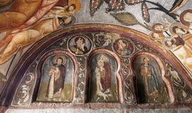 Fresko, rotskerk in Cappadocia, Turkije, Midden-Oosten royalty-vrije stock afbeelding
