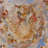 Fresko's bij Barokke Kerk Stock Foto