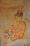 Fresko's die, Sigiriya schilderen Stock Foto