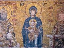 Fresko's in Hagia Sophia, Istanboel, Turkije royalty-vrije stock afbeeldingen