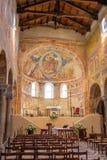 Fresko's middeleeuwse Kathedraal van Chioggia, monumenten, augustus 2016 stock fotografie