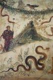 Fresko's in ruines van Pompei, Napels, Italië Stock Fotografie