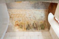 Fresko's in St. Demetrius kathedraal royalty-vrije stock afbeeldingen