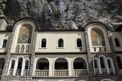 Fresko's van het klooster Ostrog Stock Foto