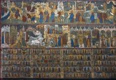 Fresko in tempel Stock Afbeeldingen