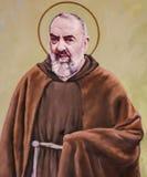 Fresko van Aalmoezenier Pio in Valencia stock foto's