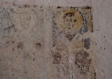 Fresko van Heilige Philip in La Chiesa Di Lama D ` Antico, de Lama D ` Antico van Parco Rupestre stock foto