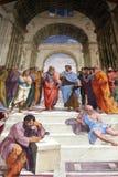 Fresko van Raphael, stanza Stock Afbeeldingen