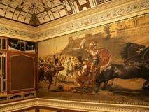 Fresko von Achilleus im Achillieon-Palast auf der Insel von Korfu Griechenland errichtet von der Kaiserin Elizabeth von Österreic Lizenzfreie Stockfotos