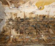 Fresko am Wüstenschloss Quseir (Qasr) Amra nahe Amman, Jordanien Lizenzfreie Stockfotografie