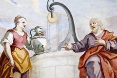 Fresko Wieskirche Stockfotografie