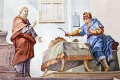 Fresko Wieskirche Lizenzfreies Stockfoto
