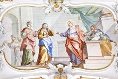 Fresko Wieskirche Lizenzfreies Stockbild