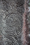 Freskomålning Angkor Wat/Angkor Thom Det forntida fördärvar av ett historiskt Arkivbilder