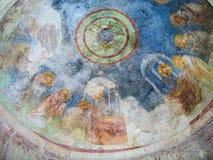 Freskomålning av kyrkan av St Nicholas, Demre Royaltyfria Foton
