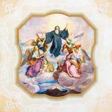 Freskomålning i Benedict Hall av den Melk abbotskloster, Österrike Arkivbild